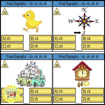 Final Digraphs Clip Cards