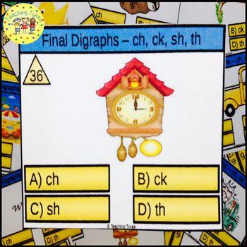 Final Digraphs Task Cards