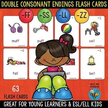 ll,ss,ff,zz Double Consonant Endings Flash Cards