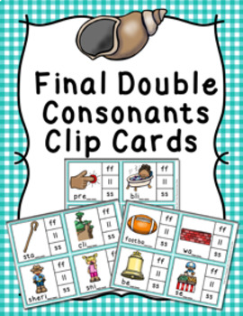 Final Double Consonants Sounds Clip Cards