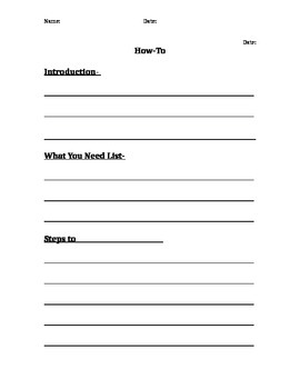 "Final Draft Template for ""How-to"" Assignment"