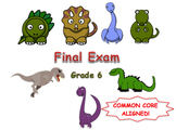 Math Final Exam Assessment (6th Grade)