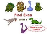 Math Final Exam Assessment (6th Grade)