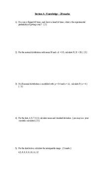 Final Exam Data Management 12  ( MDM4U )