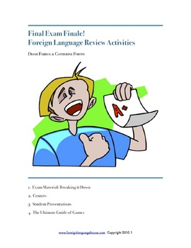Final Exam Finale!  Foreign Language Review Activities & P
