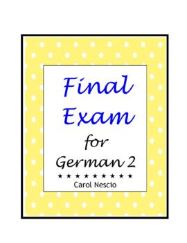 Final * Exam For German 2