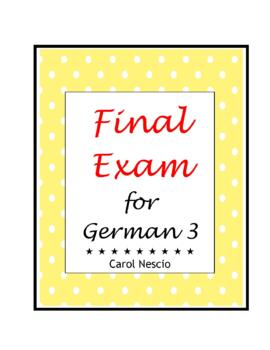 Final * Exam For German 3
