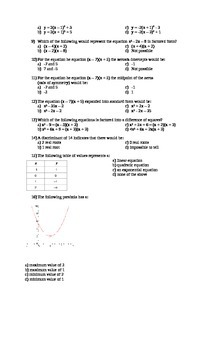 Final Exam: Grade 11 University College Mathematics - MCF 3M0