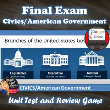 Final Exam & Review Game – Civics/American Government