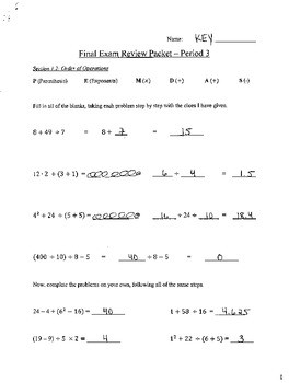 final exam review packet 7th grade honors answer key. Black Bedroom Furniture Sets. Home Design Ideas