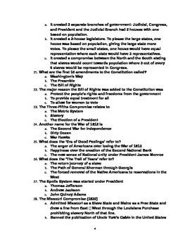 Final Exam - U.S. History