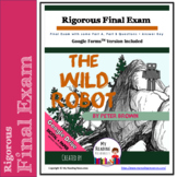 Final Exam for The Wild Robot with Part A/Part B Questions + Google Forms option