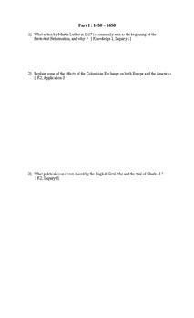 Final Exam for World History 12 ( CHY4U )