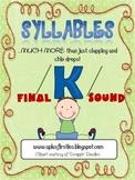 Final K Sound Phonics Activity