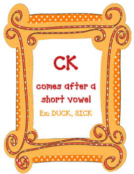 Final /K/ Spelling Rules & Practice Sheets