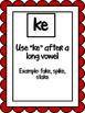 Final Ke and C spelling