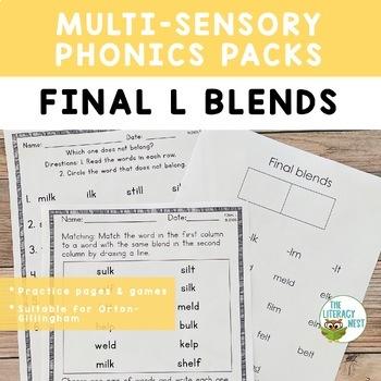 Final L Blends Phonics Practice