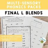 Final L Blends Orton-Gillingham Activities Multisensory Phonics
