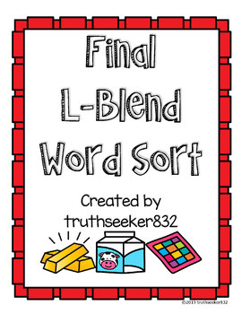 Final L-Blends Word Sort