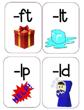 Final L and T Phonics Posters