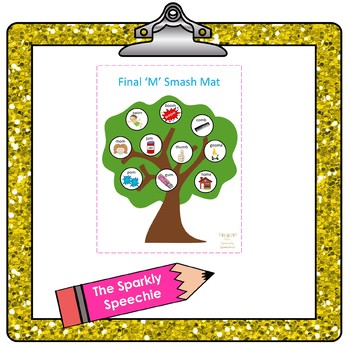 Articulation: Final 'M' Play Dough Smash Mat