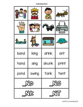 Final N-Blends Word Sort