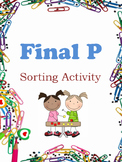 Final P: Sorting Activity, File Folder Game
