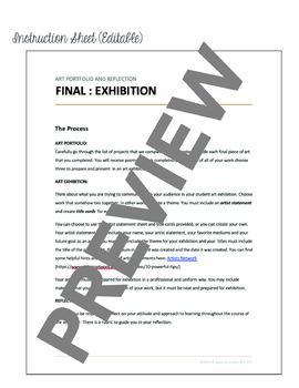 Art Exhibition, Final Art Reflection & Art Portfolio Guidelines for Students