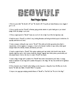 Beowulf Final Project