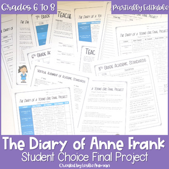 The Diary of Anne Frank Project   The Diary of Anne Frank Activity