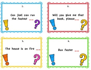 Final Punctuation Scoot (Task Cards)