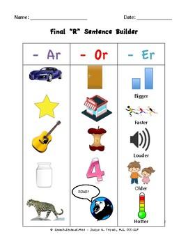 """Final """"R"""" Sentence Builder"""