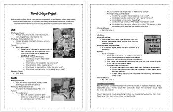 Final Reading Project - Novel Collage (3 options available!)
