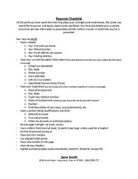 Final Resume Checklist