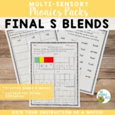 Final S Blends Orton-Gillingham Level 1 Multisensory Phonics Activities