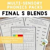 Final S Blends Orton-Gillingham Activities Multisensory Phonics