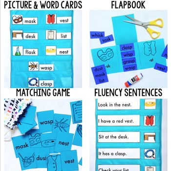 Phonics By Design Final S Blends SK, SP, & ST Mini-Unit