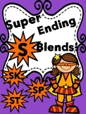 Ending Blends letter S (_sp, _sk, _st), with Picture Cards!
