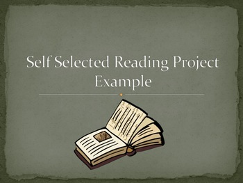 Self Selected Reading Project Example