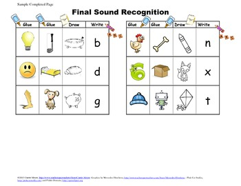 Final Sound Match & Letter Recognition