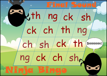 'ONSET & RIME' (not rhyme) Bingo Game - A Game of Onset, R