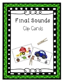 Final Sounds Clip Cards - Phonological Awareness Intervent