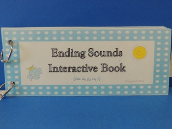 Final Sounds Interactive Book for /d/, /t/, /n/, /g/