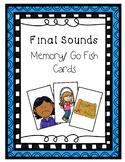 Final Sounds Memory/Go Fish Cards - Phonological Awareness Intervention Activity