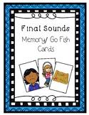 Final Sounds Memory/Go Fish Cards - Phonological Awareness