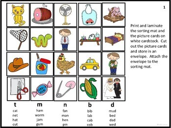 Final Sounds - Skill Review Literacy Centers