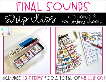 Final Sounds Strip Clips (Clip Cards & Recording Sheets)