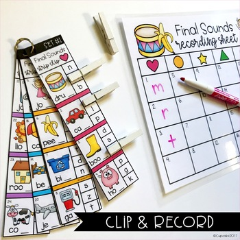 Final Sounds Clip Cards (Strip Clips & Recording Sheets)