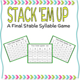 Final Stable Syllable Game