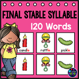 Final Stable Syllables Pocket Charts